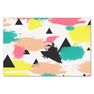Elegant colorful abstract geometric pattern tissue paper
