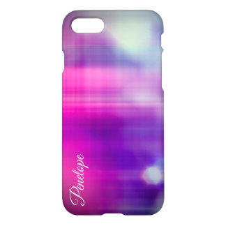 Elegant Colorful Abstract Monogram iPhone 8/7 Case