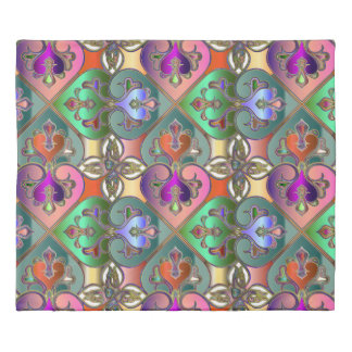 Elegant Colorful Arabesque Abstrac Duvet Cover