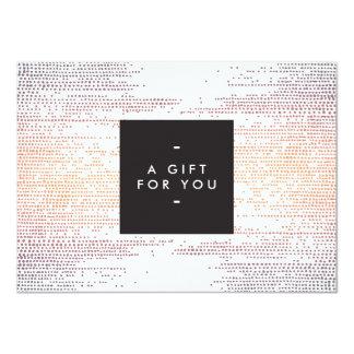 """Elegant Colorful Confetti Dots Gift Certificate 4.5"""" X 6.25"""" Invitation Card"""