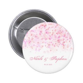 Elegant Colorful Confetti Ink Dots 2 Inch Round Button