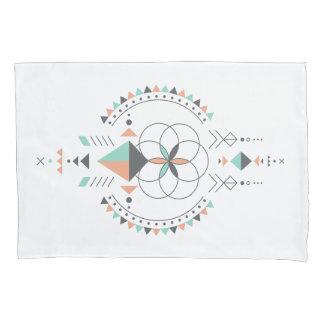 Elegant Colorful Geometric Tribal Totem Design Pillowcase