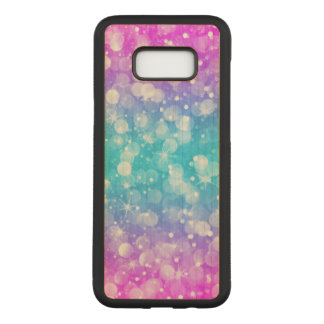 Elegant colorful glam bokeh glitter carved samsung galaxy s8+ case