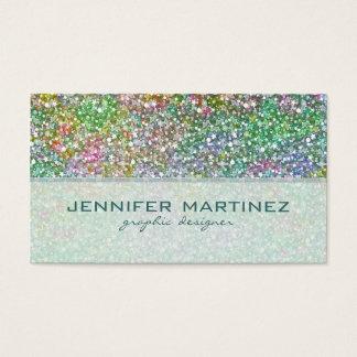 Elegant Colorful Glitter Texture-Green Overtones Business Card