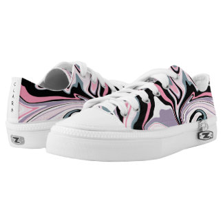 Elegant colorful marble pink purple black blue Low-Top sneakers