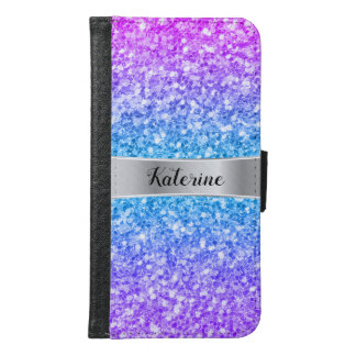 Elegant Colorful Omber Faux Glitter Texture Samsung Galaxy S6 Wallet Case