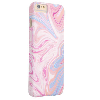 Elegant colorful pastel pink blue orange marble barely there iPhone 6 plus case