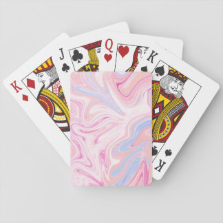 Elegant colorful pastel pink blue orange marble playing cards