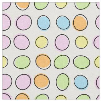 Elegant Colorful Pastel Retro Ovals Pattern Fabric
