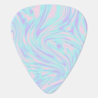 elegant colorful pink blue purple white marble guitar pick