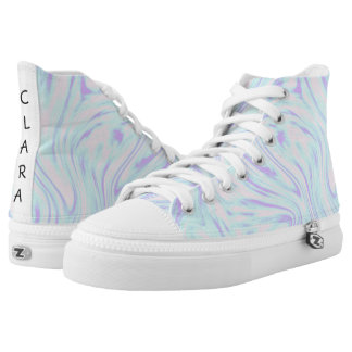 elegant colorful pink blue purple white marble high tops