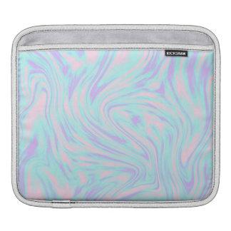 elegant colorful pink blue purple white marble iPad sleeve