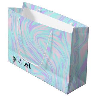 elegant colorful pink blue purple white marble large gift bag
