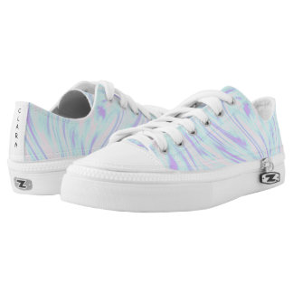 elegant colorful pink blue purple white marble Low-Top sneakers