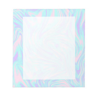 elegant colorful pink blue purple white marble notepad