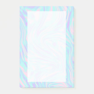 elegant colorful pink blue purple white marble post-it notes