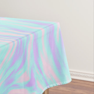 elegant colorful pink blue purple white marble tablecloth