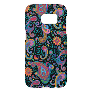 Elegant Colorful Tribal Floral Paisley Pattern Samsung Galaxy S7 Case