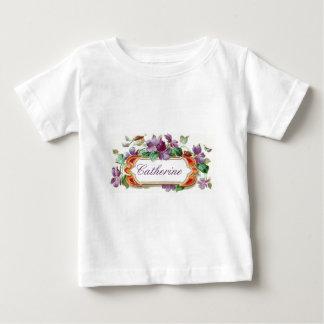 Elegant Colorful Vintage Violet Calling Card Baby T Shirt