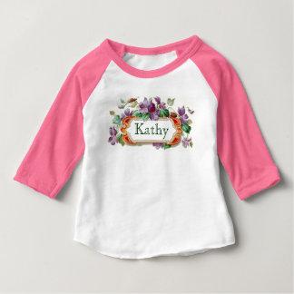 Elegant Colorful Vintage Violet Calling Card Baby Tee Shirt