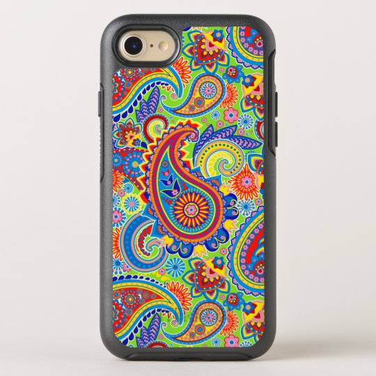 Elegant Colourful Paisley Pattern OtterBox Symmetry iPhone 7 Case