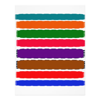 Elegant Colourful Rainbow Slices Pattern Letterhead