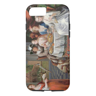 Elegant company dining in an pillared hall (panel) iPhone 7 case