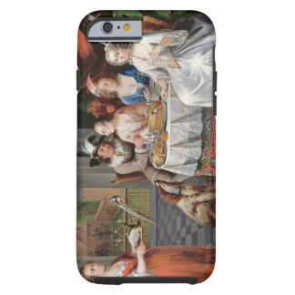 Elegant company dining in an pillared hall (panel) tough iPhone 6 case