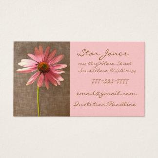 Elegant ConeFlower Business Card - - -
