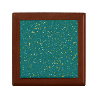 Elegant Confetti Space - Teal Green & Gold,Silver Gift Box