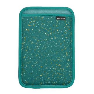 Elegant Confetti Space - Teal Green & Gold,Silver iPad Mini Sleeve