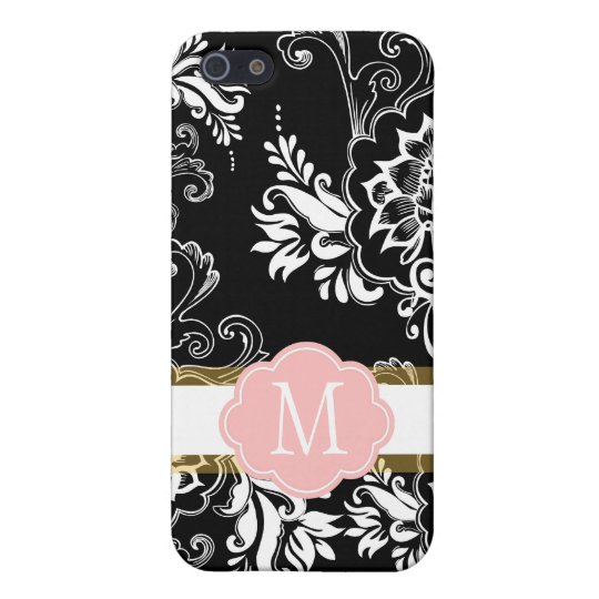 Elegant, cool and classic, girly B&W floral iPhone 5/5S Covers