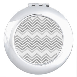 elegant, cool, classic, modern light grey zigzag compact mirrors