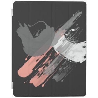 elegant coral pink white and grey brushstrokes iPad smart cover