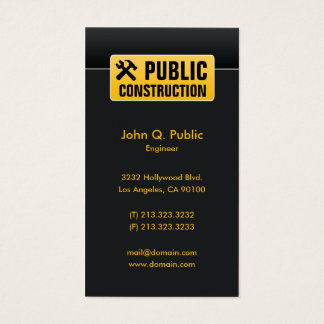 Elegant Corporate Black Construction Home Builders Business Card