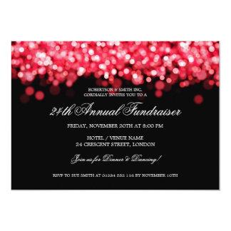 "Elegant Corporate Fundraiser Red Lights 5"" X 7"" Invitation Card"