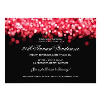 Elegant Corporate Fundraiser Red Lights Announcement