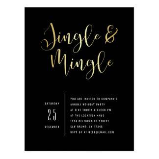 Elegant Corporate Jingle & Mingle Party Invitation Postcard