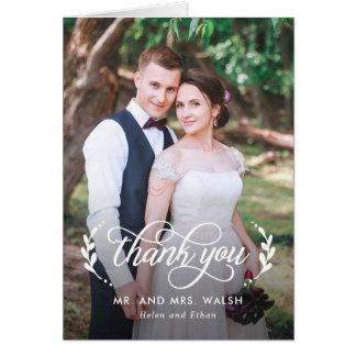 Elegant Couple Wedding Thank You Card