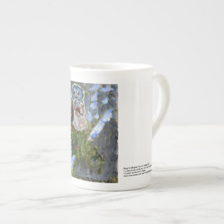 Elegant cranky blue-faced owl mug