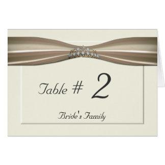 Elegant Cream wedding table card