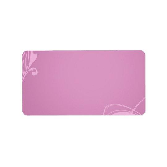 Elegant creamy pink swirls
