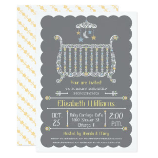 Elegant Crib — Baby Shower Invitation