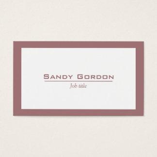 Elegant crimson and white business card