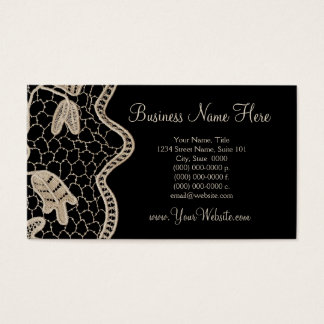 Elegant Crochet Lace - Handmade Business Card