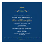Elegant Cross Baptism/Christening/First Communion Personalized Invites
