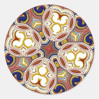 Elegant Cross Classic Round Sticker