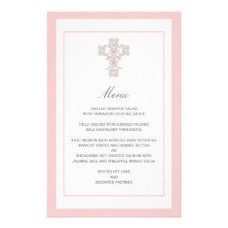 Elegant Cross in Pink Menu Page