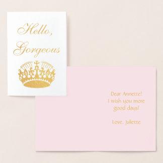 Elegant crown for real Princess Foil Card