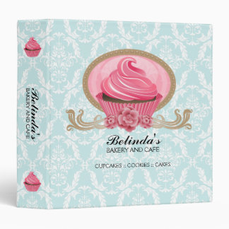Elegant Cupcake Bakery 1.5 Inch Binder